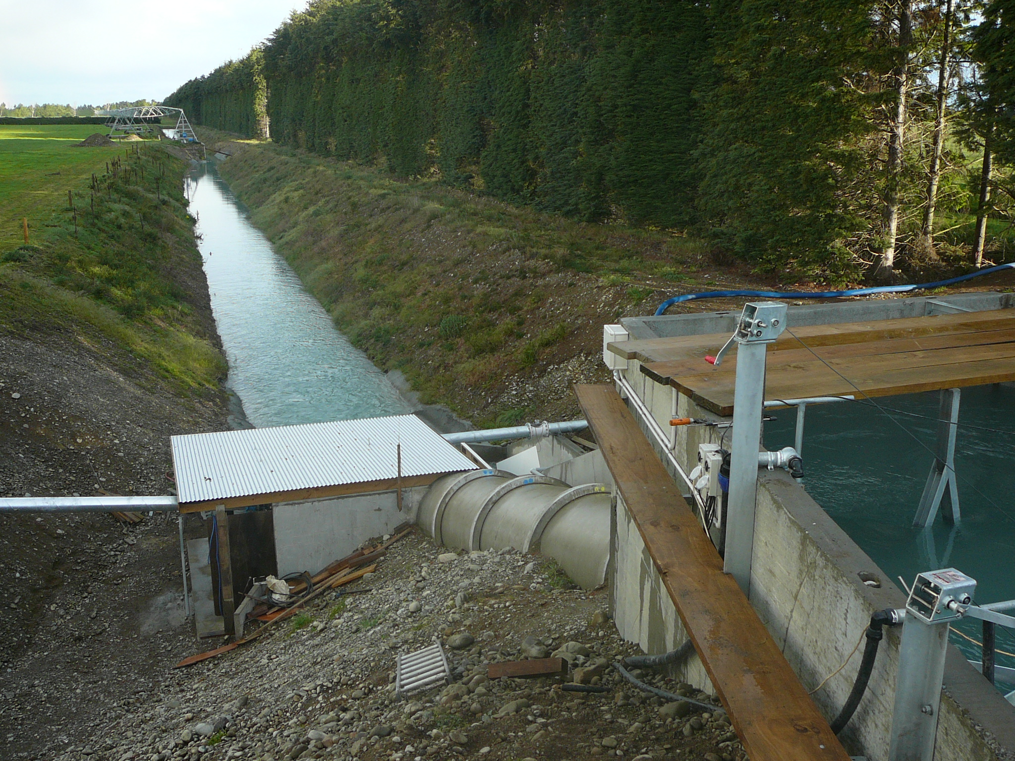 Hydropower, water turbine, pumping, crossflow, generation, hinds, rangitata, ealing pastures